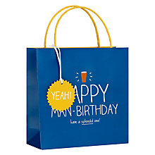 Buy Happy Jackson Happy Man Birthday Gift Bag, Multi Online at johnlewis.com