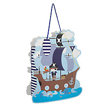 Buy John Lewis Pirate Shaped Gift Bag, Multi Online at johnlewis.com