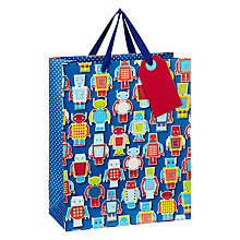Buy John Lewis Robots Gift Bag Online at johnlewis.com