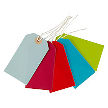 Buy John Lewis Luggage Gift Tags, Multi, Pack Of 5 Online at johnlewis.com