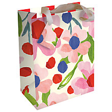 Buy Caroline Gardener Floral Gift Bag, Multi, Medium Online at johnlewis.com