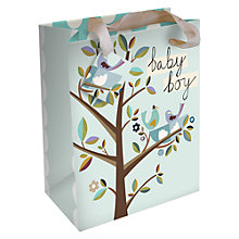 Buy Caroline Gardener Baby Boy Birds Gift Bag, Blue, Large Online at johnlewis.com