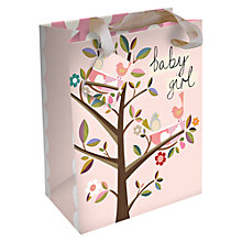 Buy Caroline Gardener Baby Girl Birds Gift Bag, Pink, Large Online at johnlewis.com