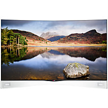 "Buy LG 55EA980W Curved OLED Full HD 3D Smart TV, 55"", Freeview HD, 2x 3D Glasses with FREE Sound Bar & Subwoofer and G Pad 7.0 Tablet Online at johnlewis.com"