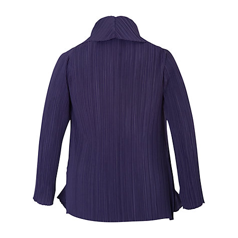 Buy Chesca Shawl Collar Crush Pleated Jacket, Purple Online at johnlewis.com