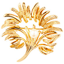 Buy Susan Caplan Vintage 1960s Grosse Floral Spray Pearl Brooch, Gold Online at johnlewis.com
