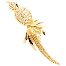 Buy Susan Caplan Vintage 1980s Christian Dior Bird Brooch, Gold Online at johnlewis.com
