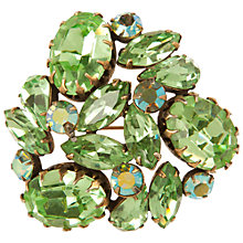Buy Susan Caplan Vintage 1950s Regency Swarovski Crystal Brooch, Pale Green Online at johnlewis.com