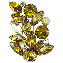 Buy Susan Caplan Vintage 1950s Regency Swarovski Crystal Brooch, Olive Green Online at johnlewis.com
