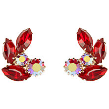 Buy Susan Caplan Vintage 1960s Vintage Weiss Red Swarovski Crystal Clip-On Earrings Online at johnlewis.com