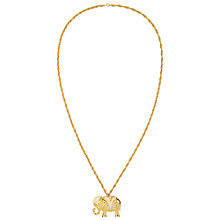 Buy Susan Caplan Vintage 1990s KJL Swarovski Crystal Elephant Long Pendant, Gold Online at johnlewis.com