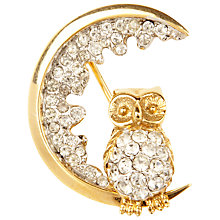 Buy Susan Caplan Vintage 1960s Atwood & Sawyer Swarovski Crystal Night Owl Brooch Online at johnlewis.com