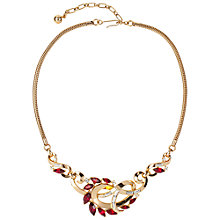 Buy Susan Caplan Vintage 1950s Trifari Swarovski Crystal Weave Necklace, Red Online at johnlewis.com