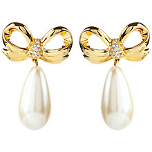 Buy Susan Caplan Vintage 1990s Elizabeth Taylor for White Diamonds Pearl Drop Earrings Online at johnlewis.com