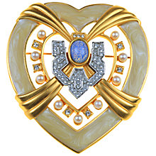 Buy Alice Joseph Vintage 1994 Elizabeth Taylor Heart of Hollywood Pearl Brooch Online at johnlewis.com