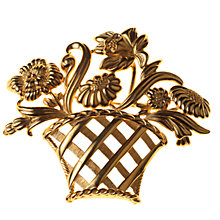 Buy Alice Joseph Vintage 1980s Monet Gilt Plated Flower Basket Brooch Online at johnlewis.com