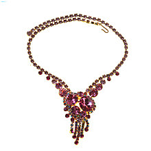 Buy Alice Joseph 1960s Delizza & Elster Juliana Pink Diamante Necklace Online at johnlewis.com