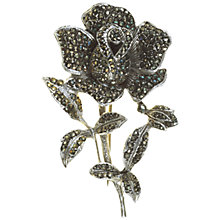 Buy Alice Joseph Vintage 1950s Silver Marcasite Rose Brooch Online at johnlewis.com
