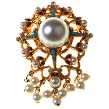 Buy Alice Joseph Vintage 1950s Florenza Pearl Empire Brooch Online at johnlewis.com
