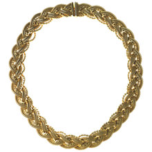 Buy Alice Joseph Vintage 1965 Grosse Plaited Gilt Collar Necklace Online at johnlewis.com