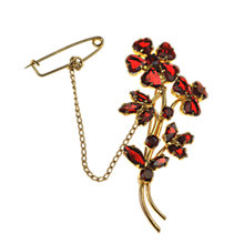 Buy Alice Joseph Vintage 1920s Bohemian Flower Brooch Online at johnlewis.com