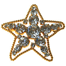 Buy Alice Joseph Vintage 1980s Chanel Diamante Star Brooch Online at johnlewis.com