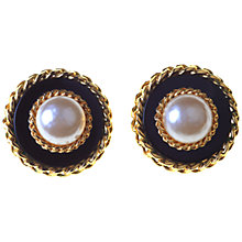 Buy Alice Joseph Vintage Chanel Pearl Clip On Earrings Online at johnlewis.com