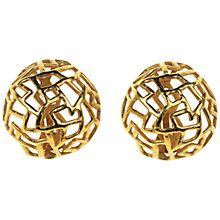 Buy Alice Joseph Vintage 1980s Lanvin Gilt Clip On Earrings Online at johnlewis.com
