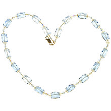 Buy Alice Joseph Vintage 1920s Art Deco Glass Beads Necklace, Blue Online at johnlewis.com