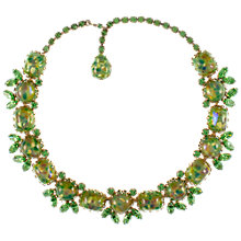Buy Eclectica 1950s Vendome Gold Plated Green Stone Necklace Online at johnlewis.com