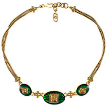 Buy Eclectica 1980s Monet Gold Plated Green Enamel Necklace Online at johnlewis.com