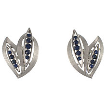 Buy Eclectica 1950s Trifari Chrome Plated Blue Glass Earrings Online at johnlewis.com