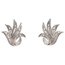 Buy Eclectica 1950s Trifari Chrome Clip On Earrings Online at johnlewis.com