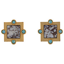 Buy Eclectica 1980s Guy Laroche Matt Gold And Glass Clip On Earrings Online at johnlewis.com