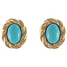 Buy Eclectica 1960s Turquoise Twist Clip On Earrings Online at johnlewis.com