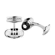 Buy Montblanc UrbanWalker Floating Star Emblem Stainless Steel Cufflinks, Silver Online at johnlewis.com