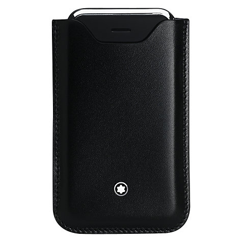 Buy Montblanc Meisterstück Leather Cover for iPhone 4 & 4S, Black Online at johnlewis.com