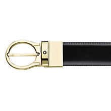 Buy Montblanc Revolving Oval Pin Buckle Reversible Leather Belt, Black/Brown Online at johnlewis.com