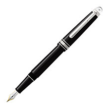 Buy Montblanc Meisterstück Diamond Classique Fountain Pen with Piston Converter, Black Online at johnlewis.com