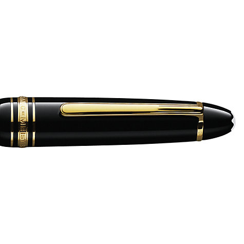 Buy Montblanc Meisterstück LeGrand Piston Fountain Pen, Black Online at johnlewis.com