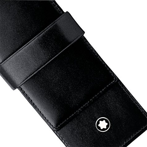 Buy Montblanc Meisterstück Siena Leather Double Writing Instrument Pouch, Black Online at johnlewis.com