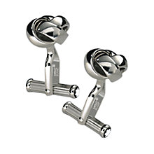 Buy Montblanc Platinum Finished Knot Cufflinks, Silver Online at johnlewis.com