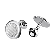 Buy Montblanc Emblem Sterling Silver Guilloché Pattern Cufflinks, Silver Online at johnlewis.com