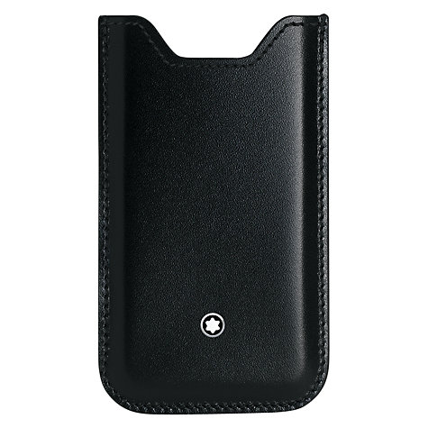 Buy Montblanc Meisterstück Leather Cover for iPhone 5, Black Online at johnlewis.com