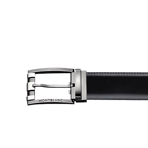 Buy Montblanc 3 Rings Motif Reversible Leather Belt, Black/Brown Online at johnlewis.com
