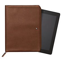 Buy Montblanc Meisterstück Leather Zip iPad 3 Pouch, Cognac Online at johnlewis.com