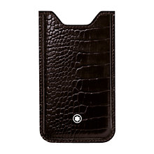 Buy Montblanc Meisterstück Selection Calfskin Cover for iPhone 5, Mocha Online at johnlewis.com