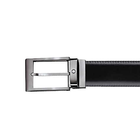 Buy Montblanc Cut Mat Ruthnium Reversible Leather Belt, Black/Brown Online at johnlewis.com