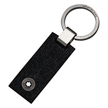 Buy Montblanc Westside Leather Keyring, Black Online at johnlewis.com