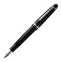 Buy Montblanc Meisterstück Platinum Line LeGrand Piston Fountain Pen, Black Online at johnlewis.com